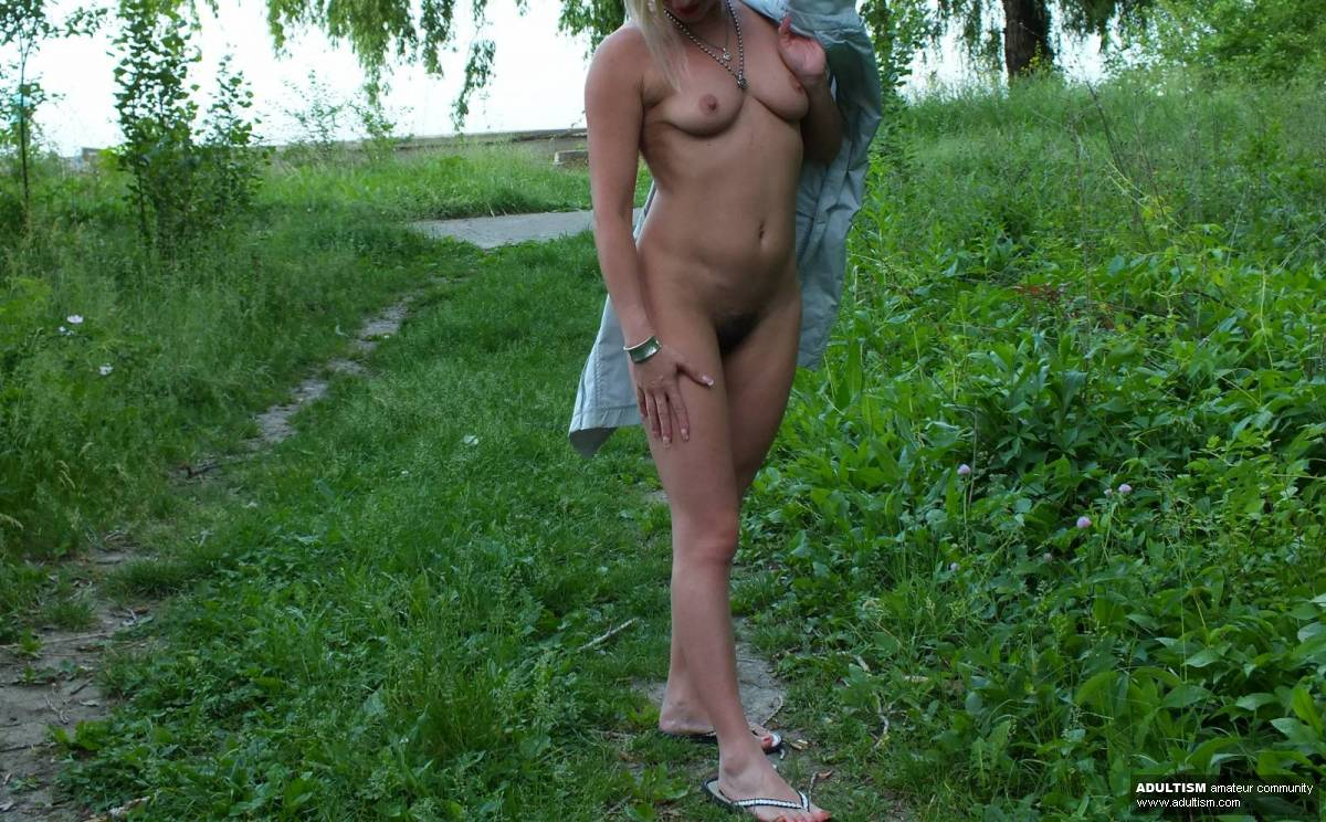 My slut wife naked in public , again , hungry for some thick cock ! - 2 of 5
